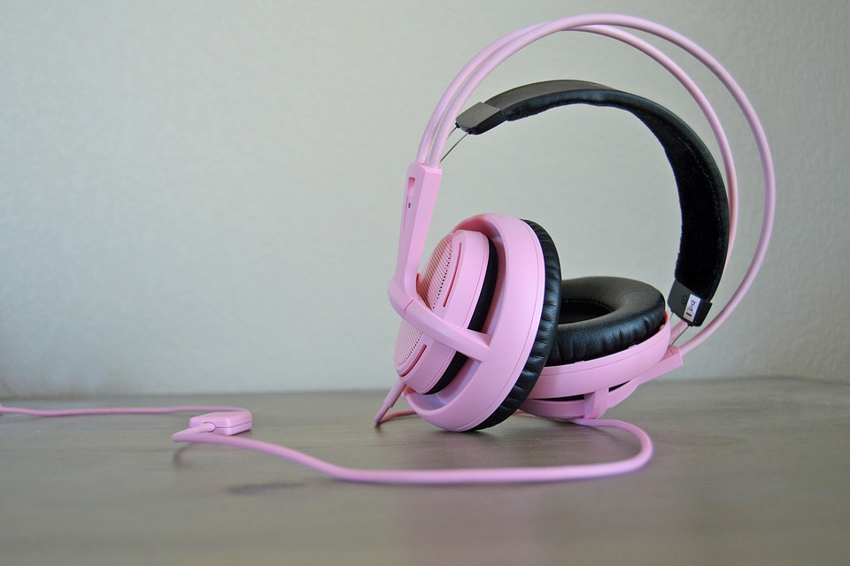 pink headset
